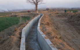 "LINING OF THE ""RIEGO DE SAN ANTONIO"" IRRIGATION CANAL FOR THE MADRIZ AND CENTEN IRRIGATION COMMUNITIES IN SOBRADIEL, PROV. OF ZARAGOZA"